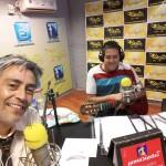 Con Jorge Gastan cantante Folklórico presentando su nuevo material